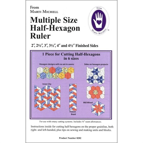 Half-hexagon skabelon - Marti Michell