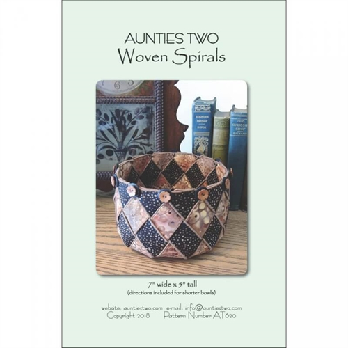Aunties two - woven spirals