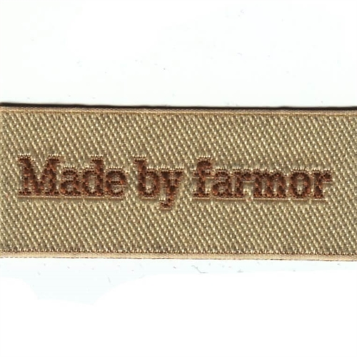 "Mærke ""Made by farmor"""