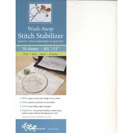 Wash-away stitch stabilizer